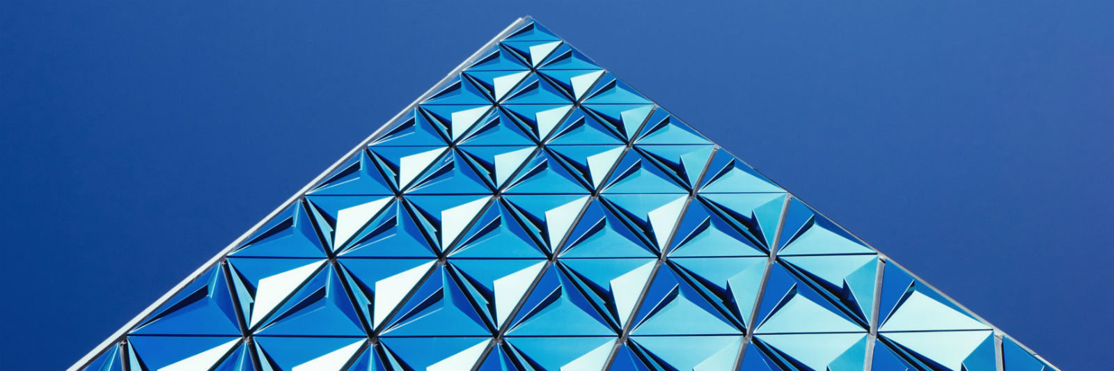 triangles against blue sky