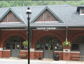 Jim Thorpe Visitors Center at the Mauch Chunk Train Station
