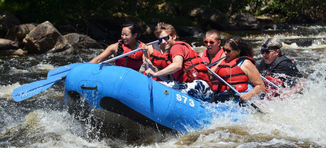 Go whitewater rafting in Carbon County, PA