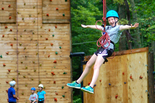 Zipling and rock wall climbing course at Blue Mountain Resort, Carbon County PA