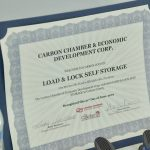 Carbon Chamber member certificate to Load and Lock Self Storage.