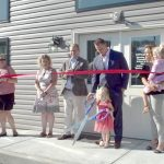 Cutting the ribbon at the Load and Lock Self Storage Grand Opening.