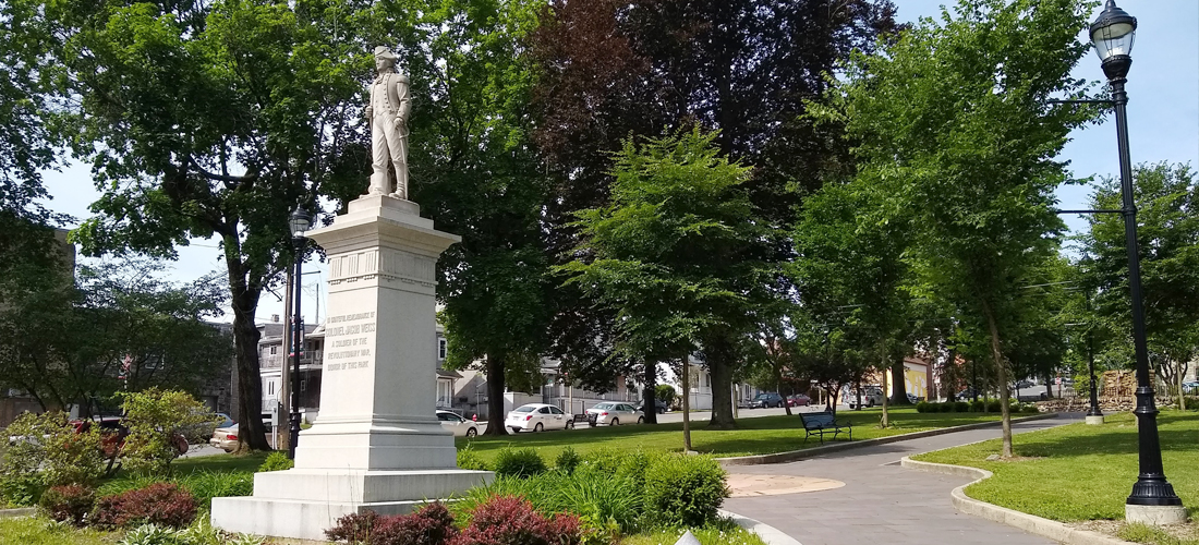 Colonel Jacob Weiss Park in downtown Lehighton Borough, PA.