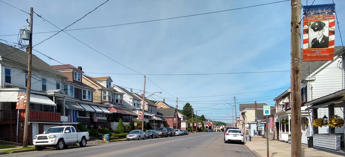 Nesquehoning, PA streetscape.