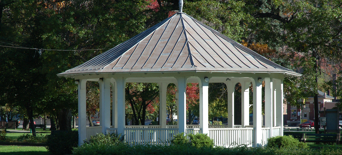 Palmerton Pa gazebo at the park.