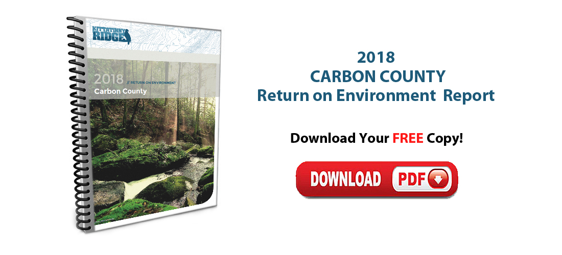 Download a FREE Copy of the 2018 Carbon County Return on Environment Report