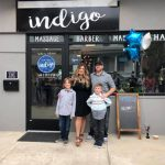 Family owners of Salon Indigo outside salon.