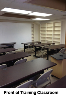 Front of CCEDC training classroom.
