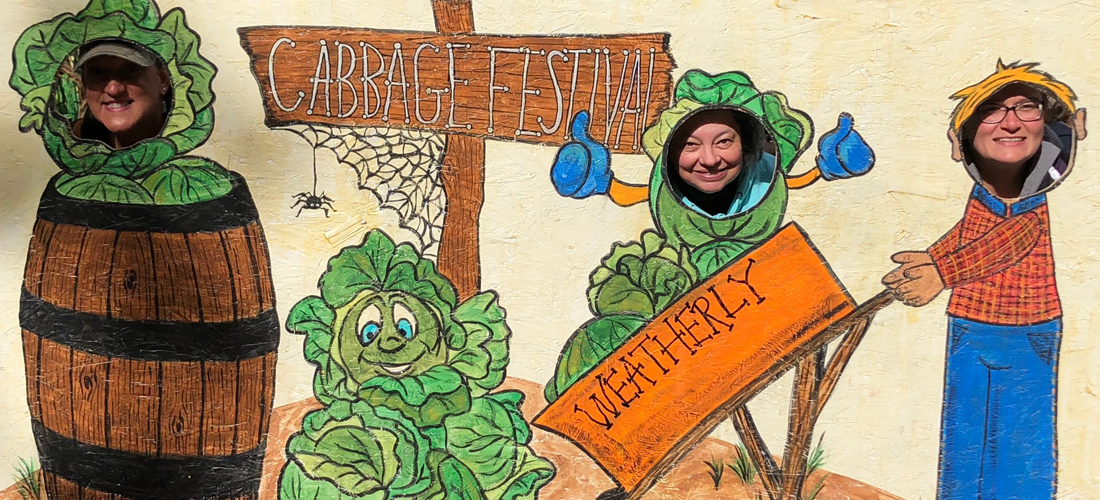 CCEDC staff having fun at the Carbon County Cabbage Festival in Weatherly.