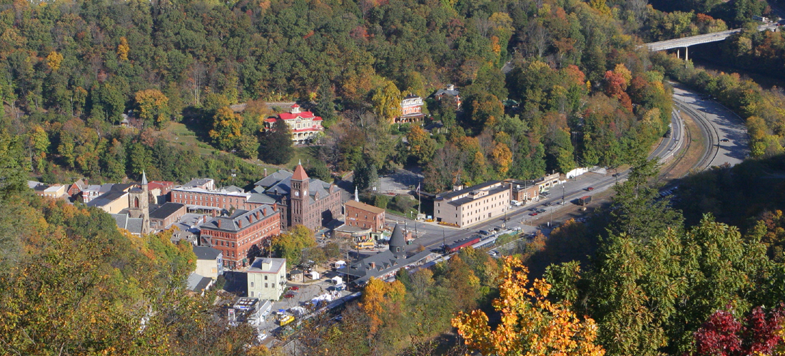 Jim Thorpe view from Flagstaff Mountain