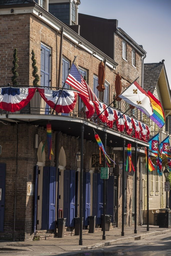 flags and in New Orleans