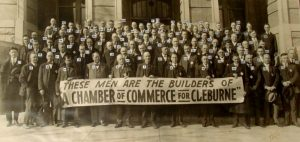 84 of the nearly 200 men who were founding members of the Cleburne Chamber of Commerce