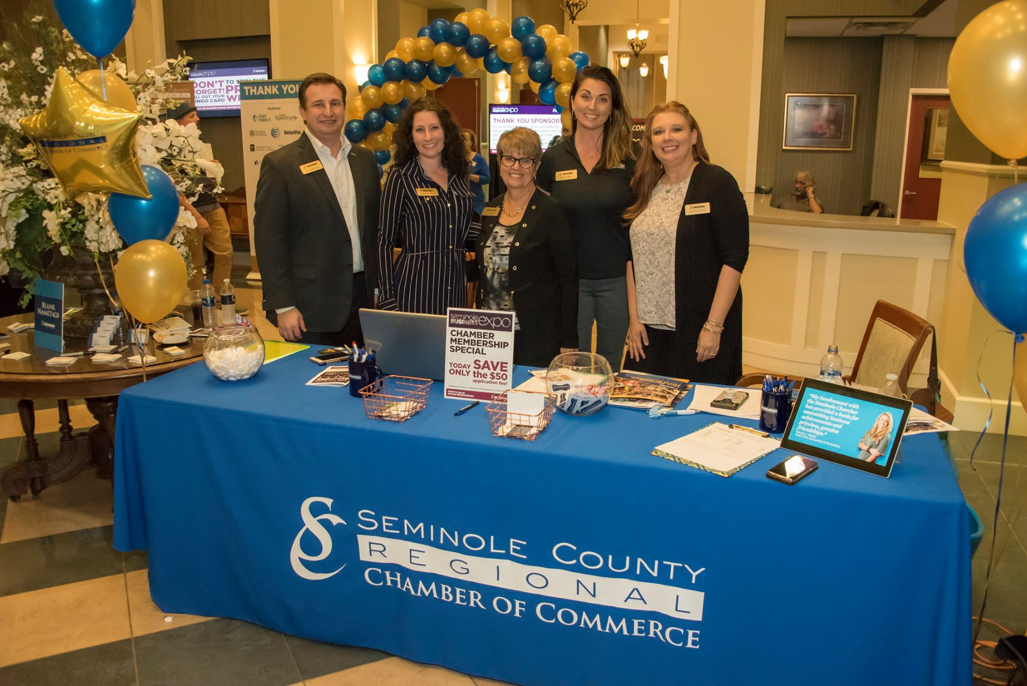 Chamber Staff at event