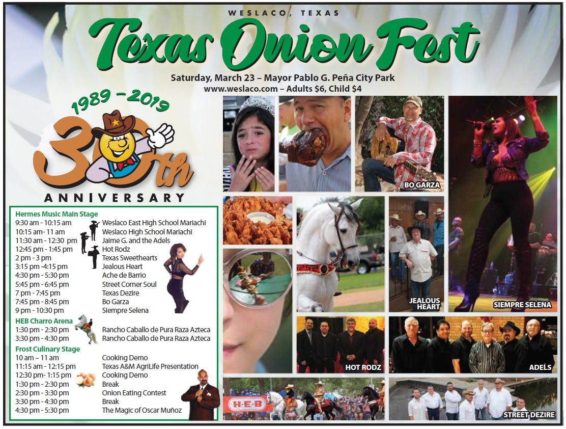 Texas Onion Fest Schedule