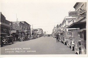 Bremerton Chamber of Commerce, Vintage Photo of Lower Pacific Avenue, Bremerton, Washington