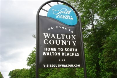 Welcome to Walton County sign