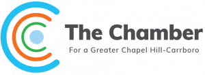 the chamber logo with slogan which states we advocate for a greater chapel hill-carborro
