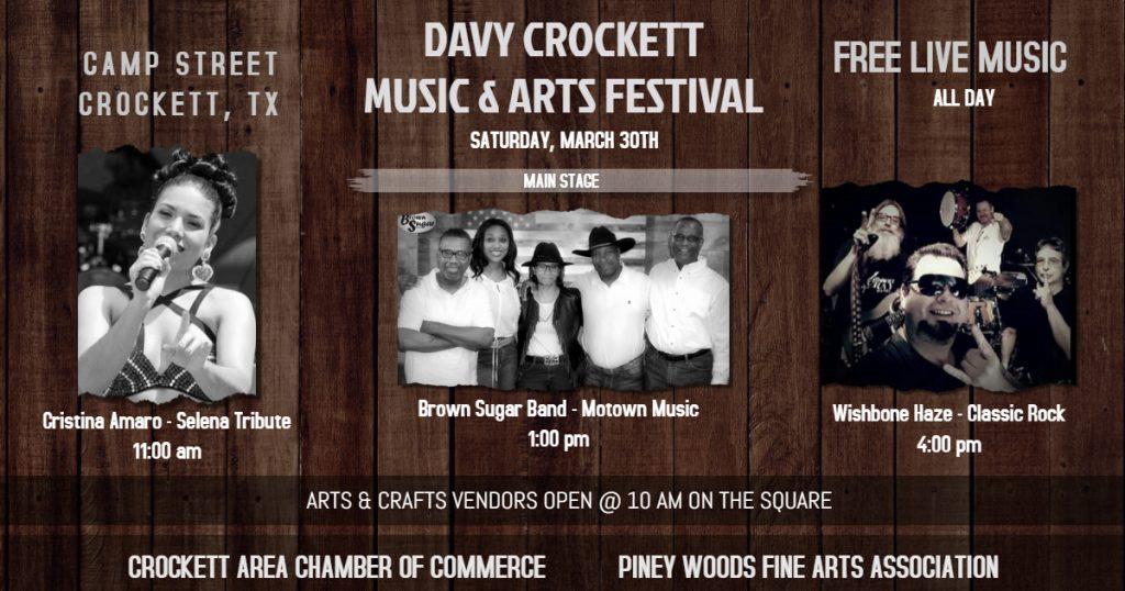 Davy Crockett Music & Arts Festival Schedule