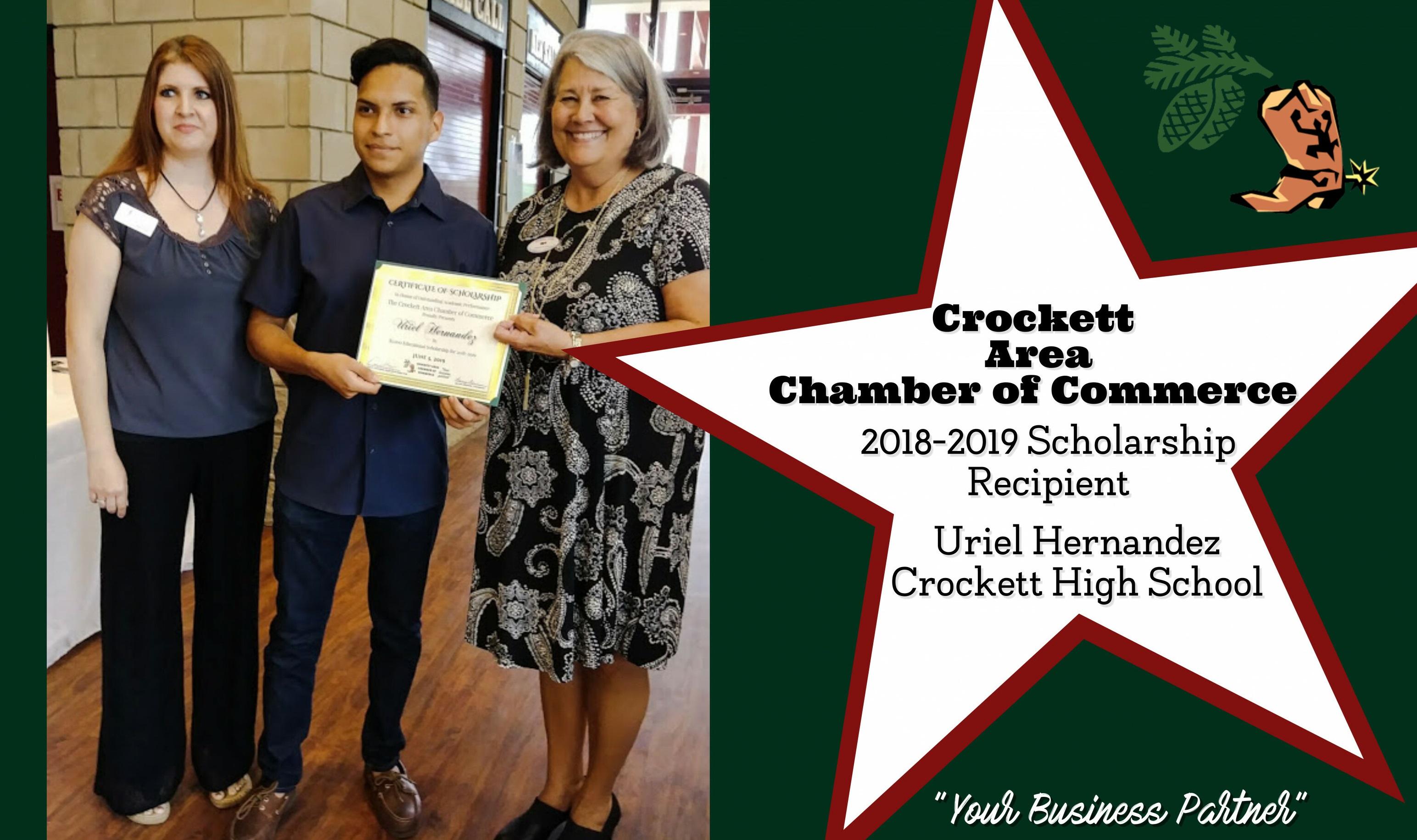 Scholarship Recipient Uriel Hernandez