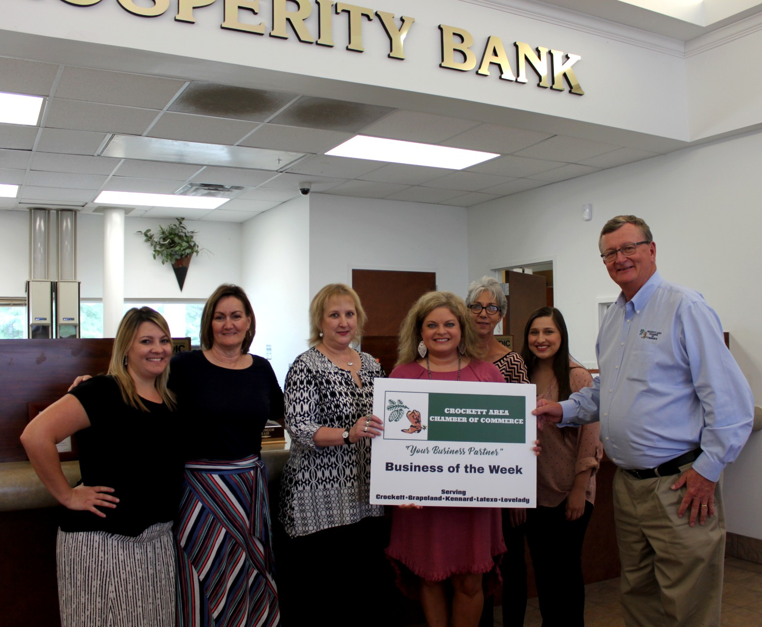 Prosperity Bank Business of the Week