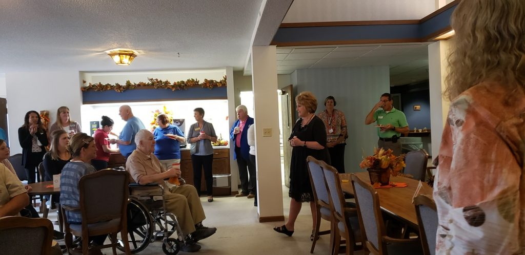 Coffee Hour at Holy Spirit Retirement Home