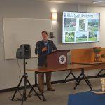 Rob Leslie, Director, Economic Development & Planning, at the Town's Economic Development event.