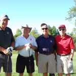 Bob Miller, former Chamber Board Member, and his foursome - long-time participants in the Golf Outing.