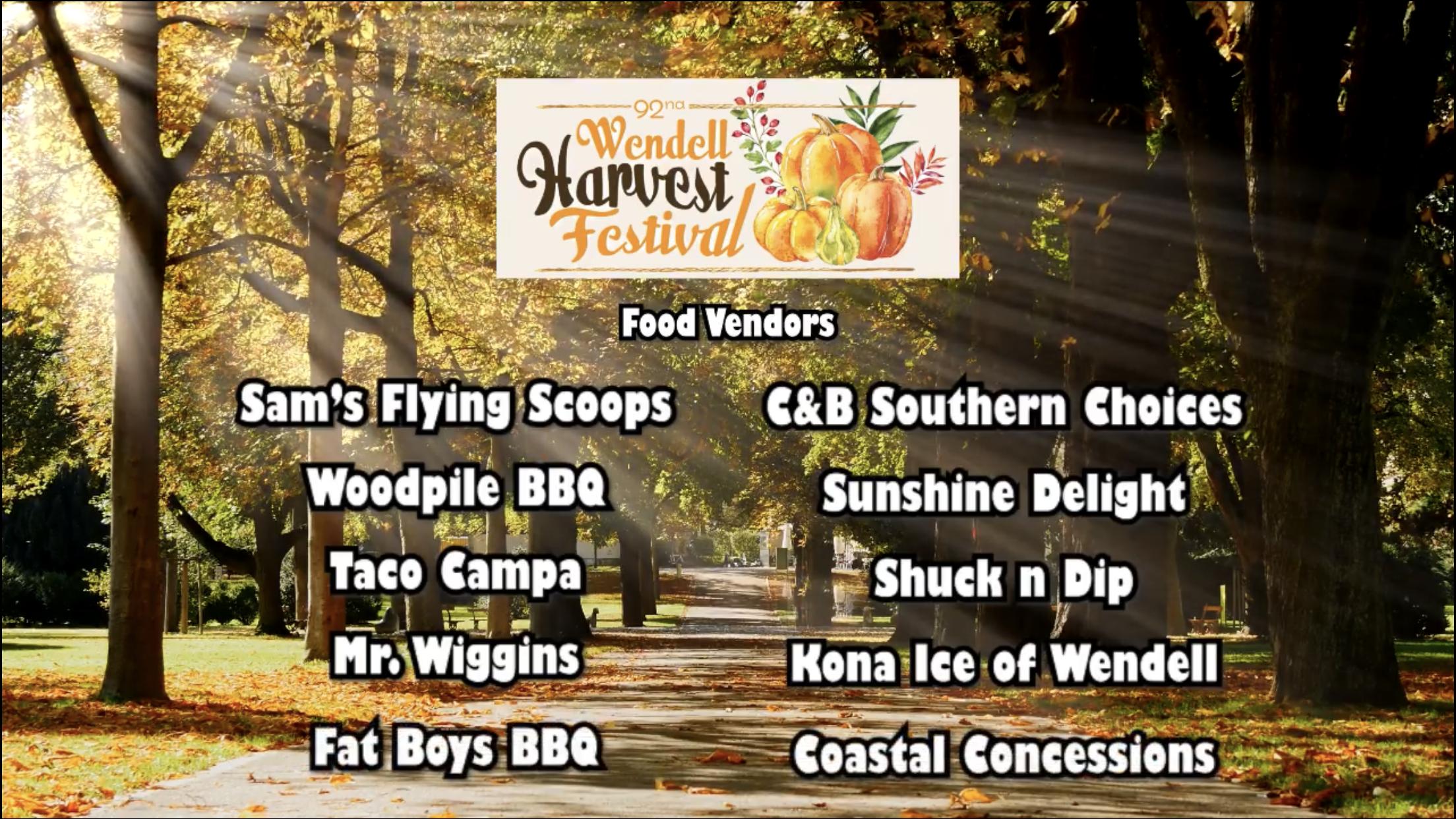 Wendell Harvest Festival Vendors