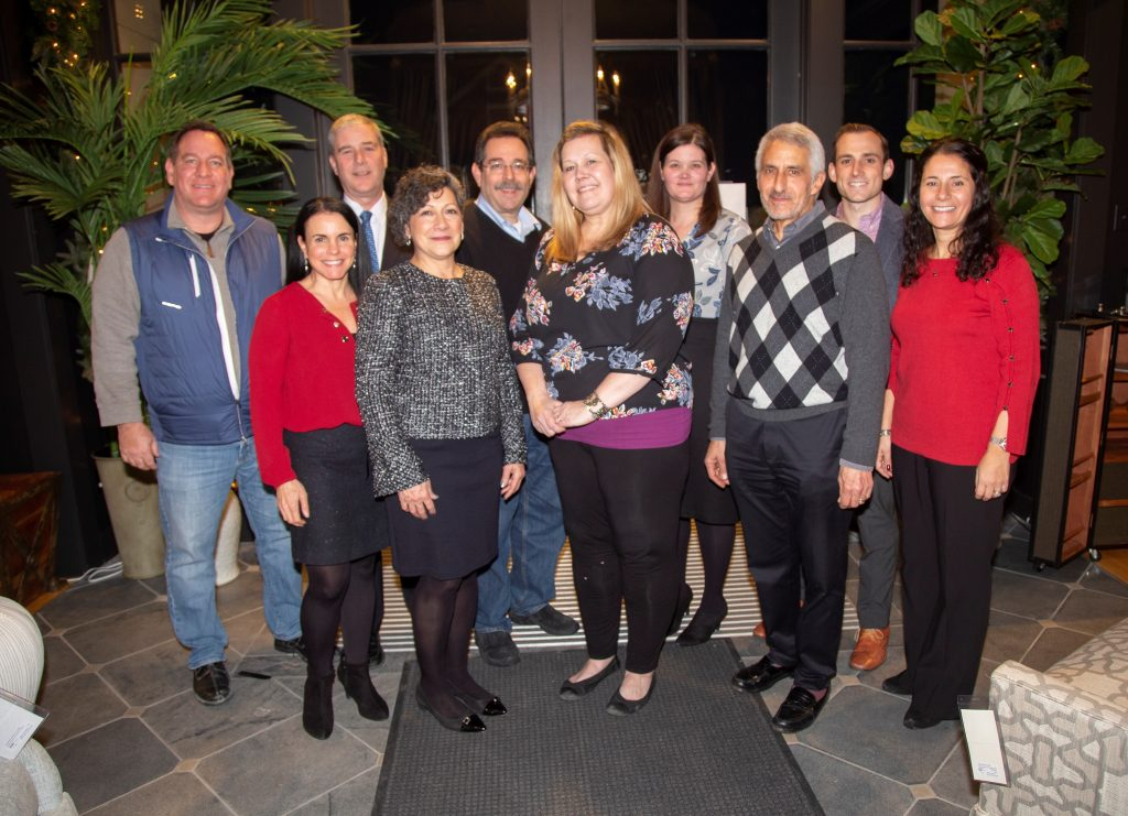 Ginny Glasner with 2019 Board of Directors at December 2018 Holiday Celebration