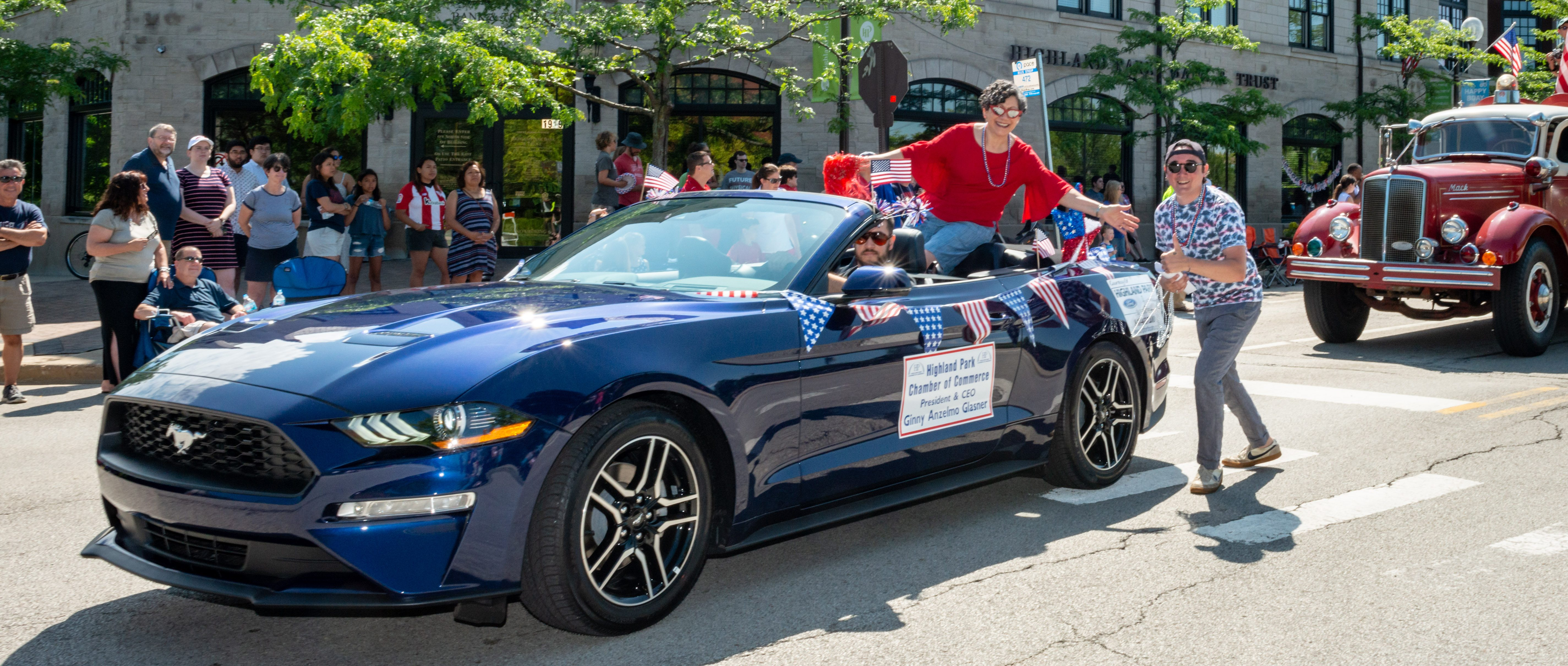 Ginny and Michael at the 2019 4th of July Parade