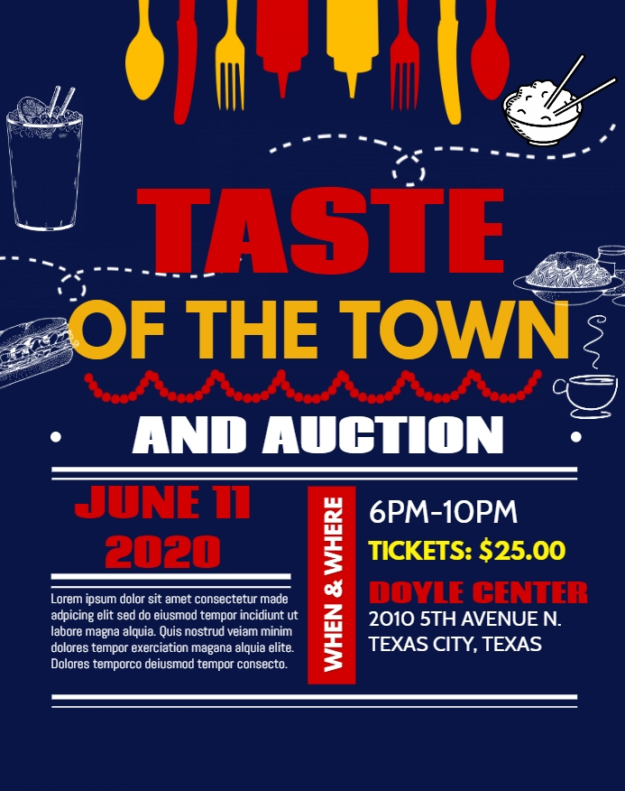 Taste of the Town and Auction flyer