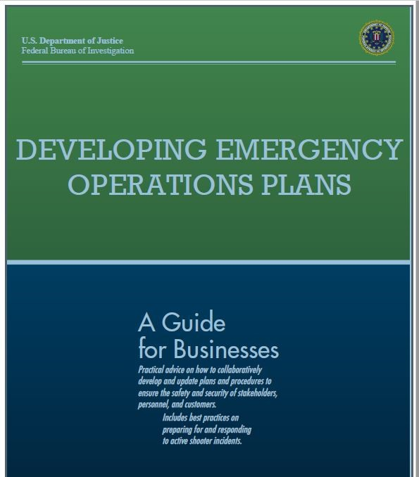 FBI Active shooter plan cover