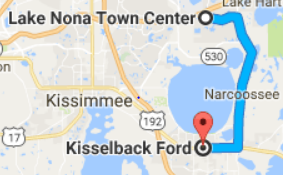 Map to Kisselback Ford