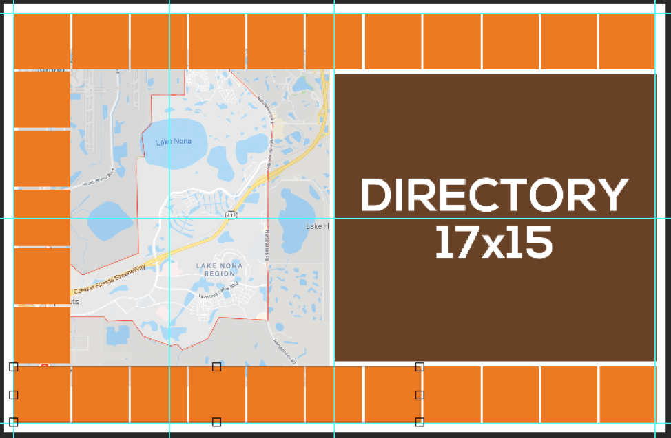 Map/Directory ad layout