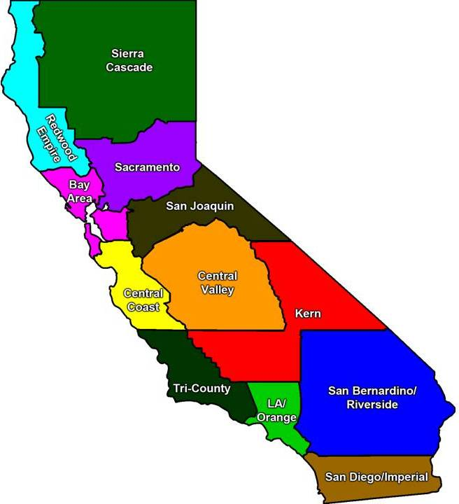 Map of California and CTA Units