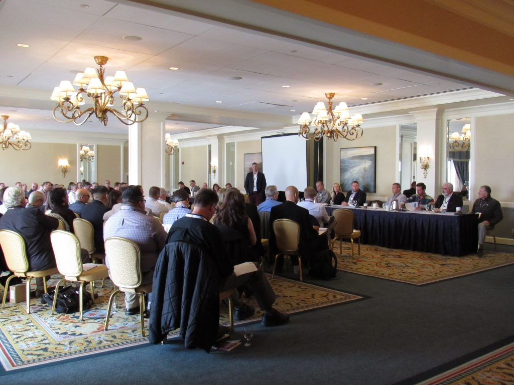 Membership services policy committee meets during this year's annual membership conference.