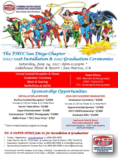 PHCC San Diego Installation & Graduation 2017