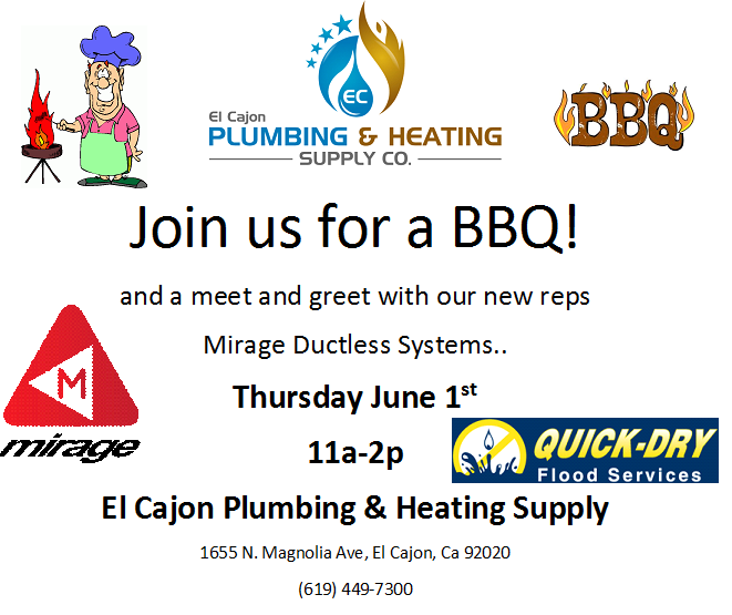 El Cajon Plumbing & Heating Supply June BBQ