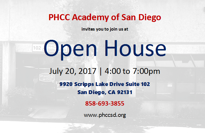 PHCC Academy of San Diego Open House 2017