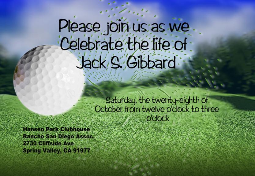 Jack S. Gibbard Memorial 2017
