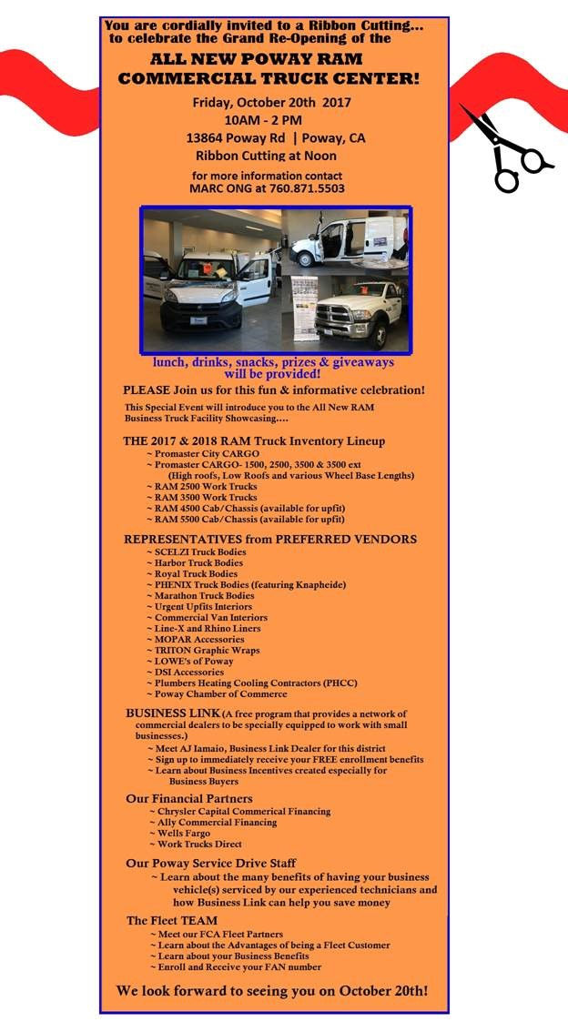 Poway Ram Comercial Truck Center Grand Re-Opening