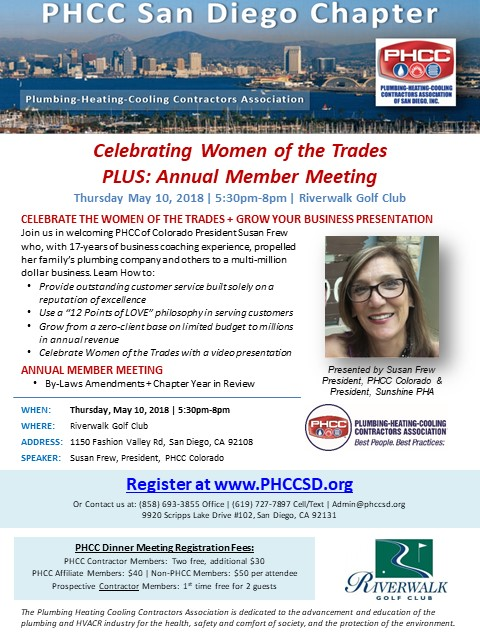 Women of the Trades PHCC San Diego Member Meeting