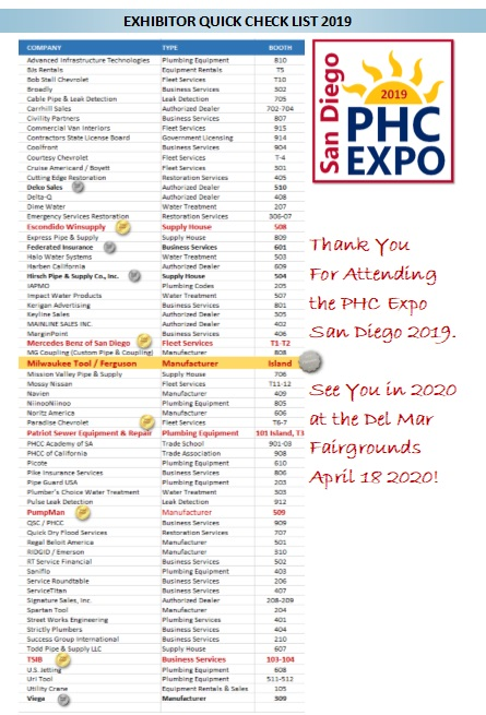 Industry Expo 2019 - PHCC San Diego