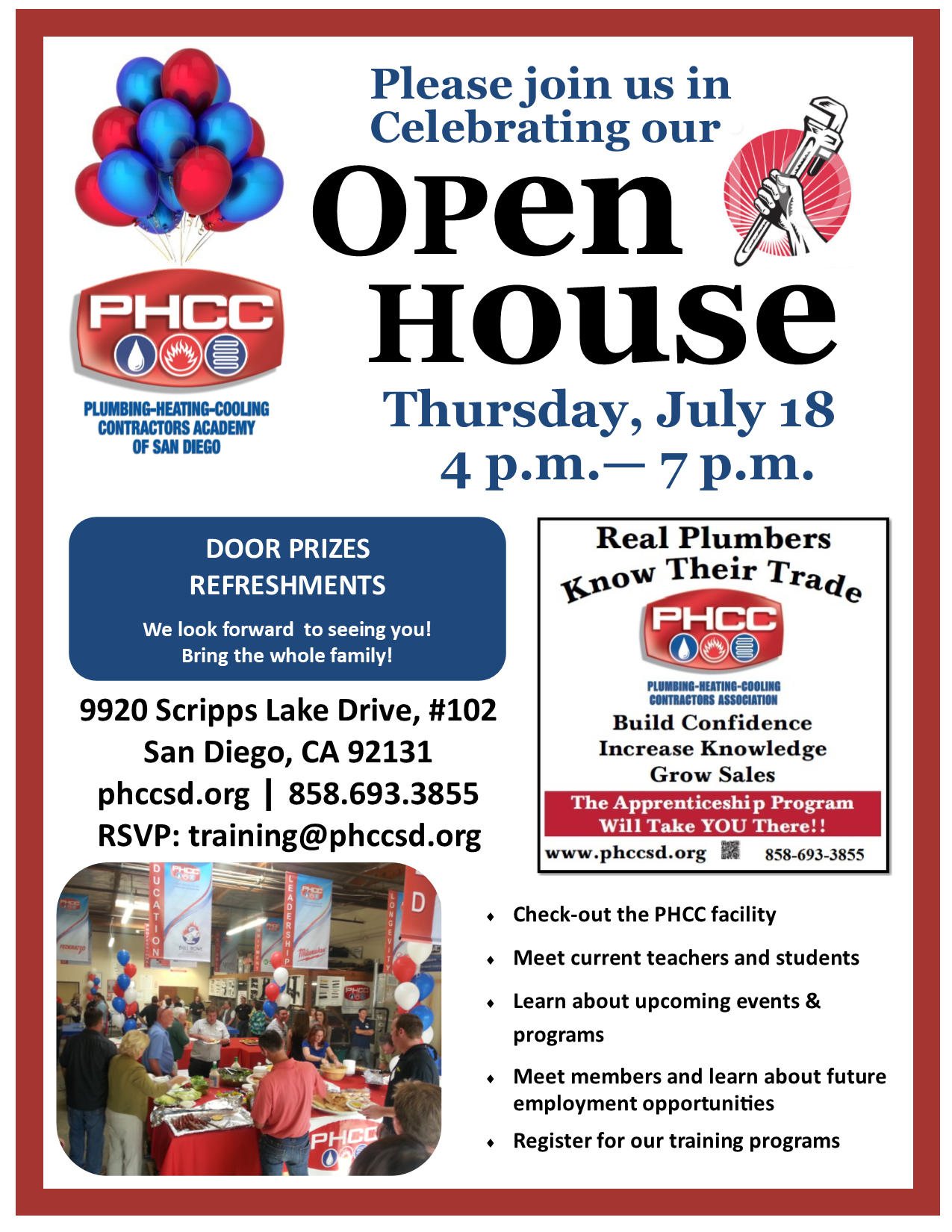 PHCC San Diego Open House 2019