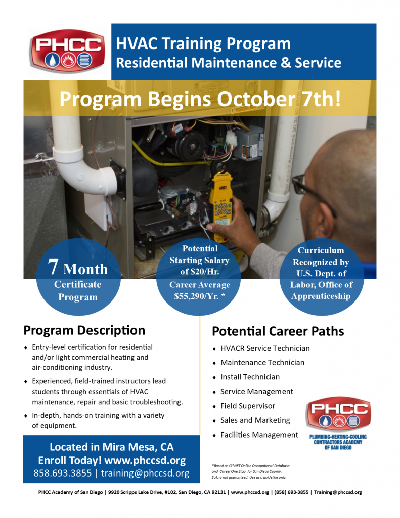 HVAC Training at PHCC Academy of San Diego