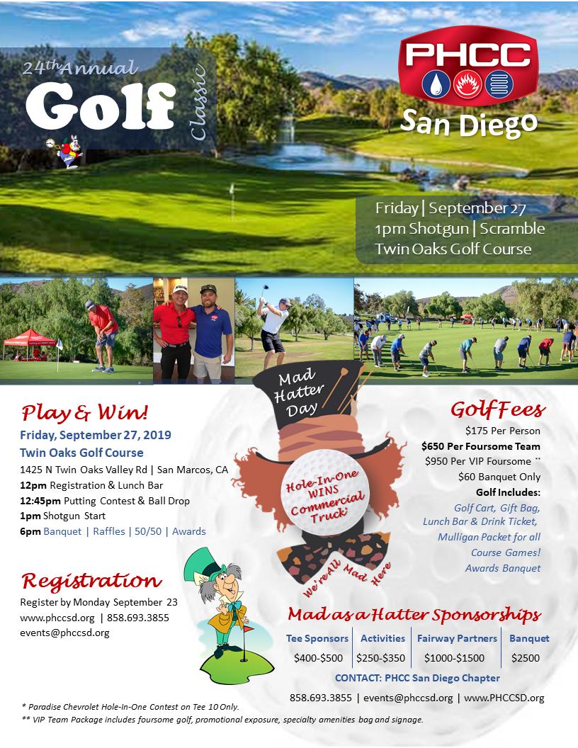 PHCC San Diego Golf 2019