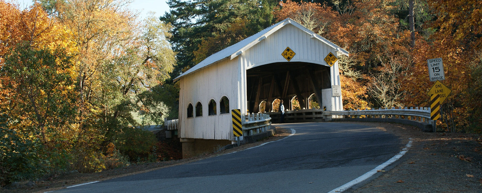 Image of a covered bridge