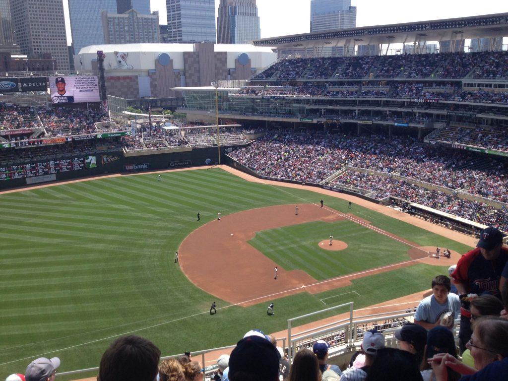 Target Field, home of the Minnesota Twins baseball team.