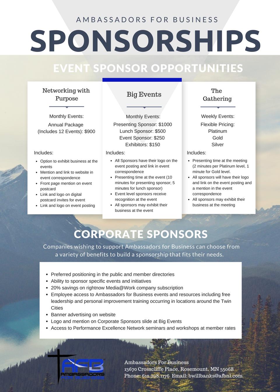 Sponsors benefits infographic