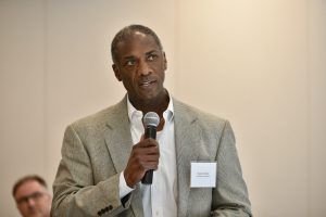 Image of Duane Coleman speaking at the April 2018 Big Event.